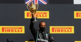 F1: Lewis Hamilton limps to record British GP win