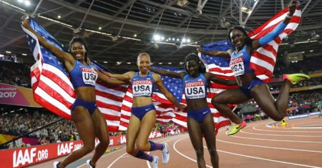 Bowie does the star turn as US women take home 4x100m relay gold