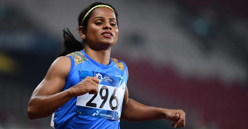 Dutee closes season with 200m gold to complete sprint double