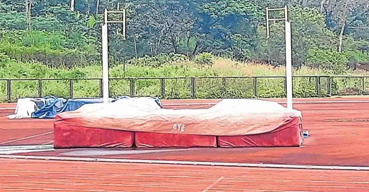 High jump bed