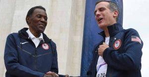 Decathlete Rafer Johnson, 'World's Greatest Athlete', no more