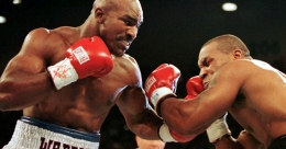 Holyfield's training video hints at bout with Tyson