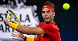 Nadal battles technology in session with Federer, Murray