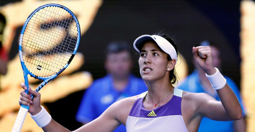 Australian Open: Muguruza battles past Halep to reach final
