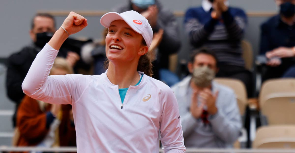 French Open champ Swiatek rises to 17th, Djokovic, Nadal 1-2