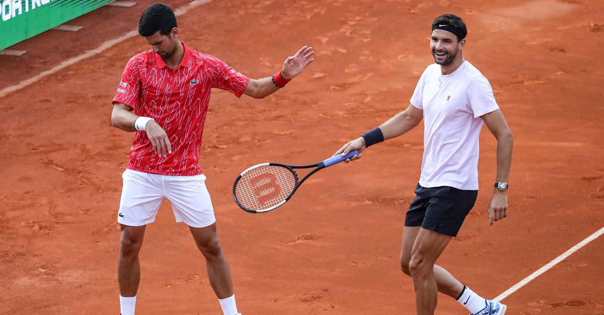 Novak Djokovic with Grigor Dimitrov