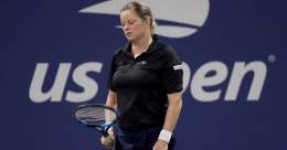 Clijsters falls in opening round on US Open return