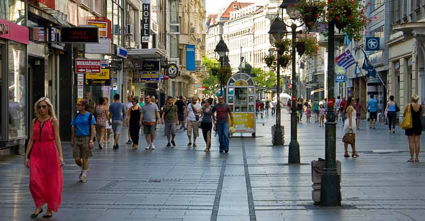 Belgrade square: Where lovers gather to laugh and make merry