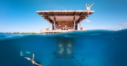 This underwater room in Tanzania offers heart-stopping experience