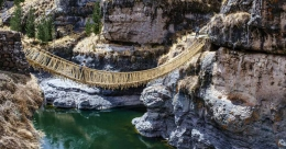 This handwoven Peruvian bridge stands out for obvious reasons