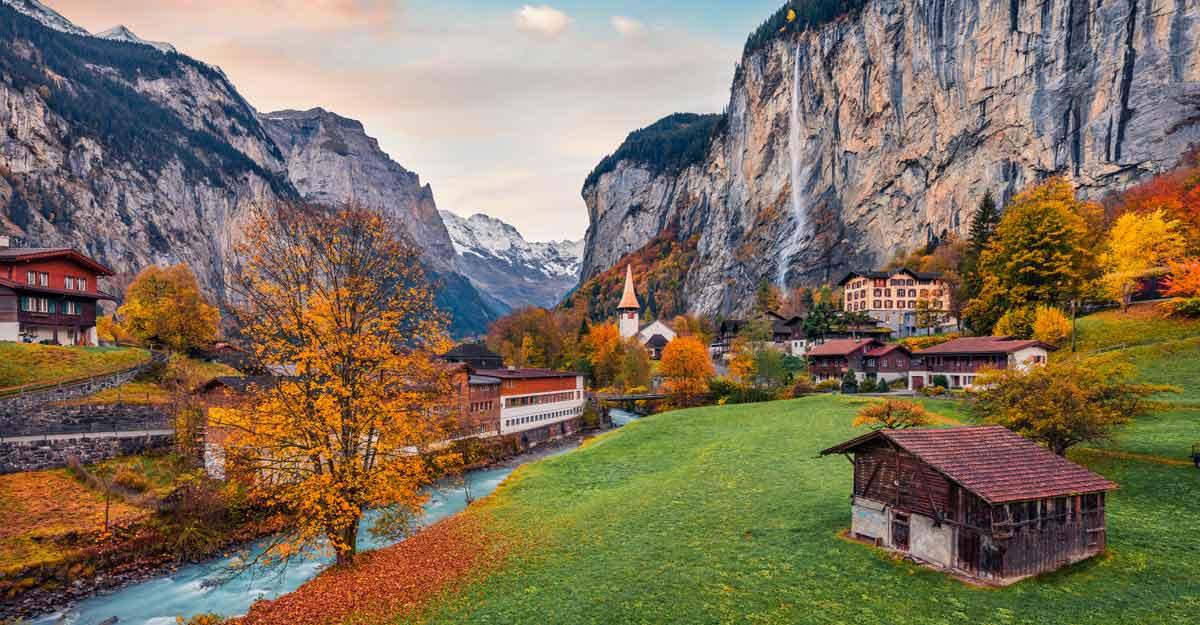 Mesmerising colours of autumn in Switzerland