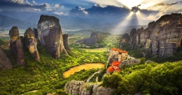 Experience Meteora, an architectural marvel in the 'heavens above'