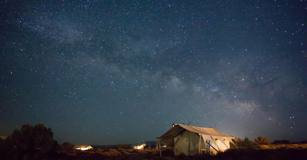 Starry night camping.
