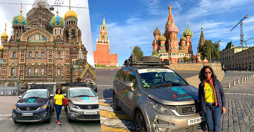 This woman traveller displays true grit by driving from Coimbatore to Russia