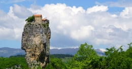 Georgia's Katskhi Pillar houses the world's highest monastery