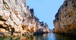 Sparkling marble rocks at Bhedaghat beckon travellers
