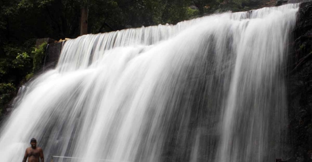 Majestic waterfall in holy Suruli comes to life