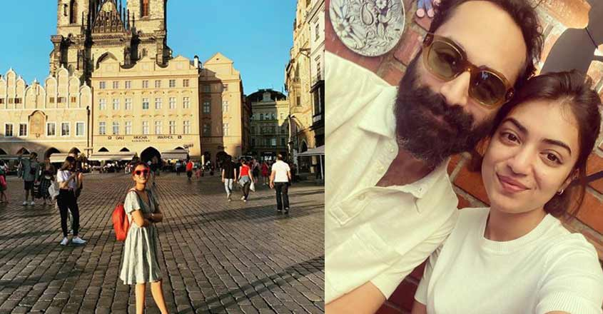 Nazriya and Fahadh are in trip mode at Prague
