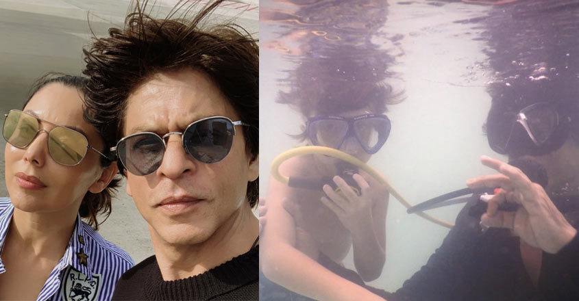 SRK posts pics of perfect family vacation in Maldives