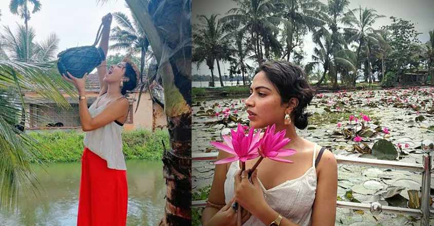 Actress Amala Paul is on vacation mode in Alappuzha