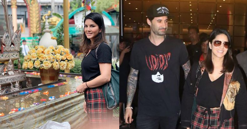 Sunny Leone on a spiritual journey in Thailand