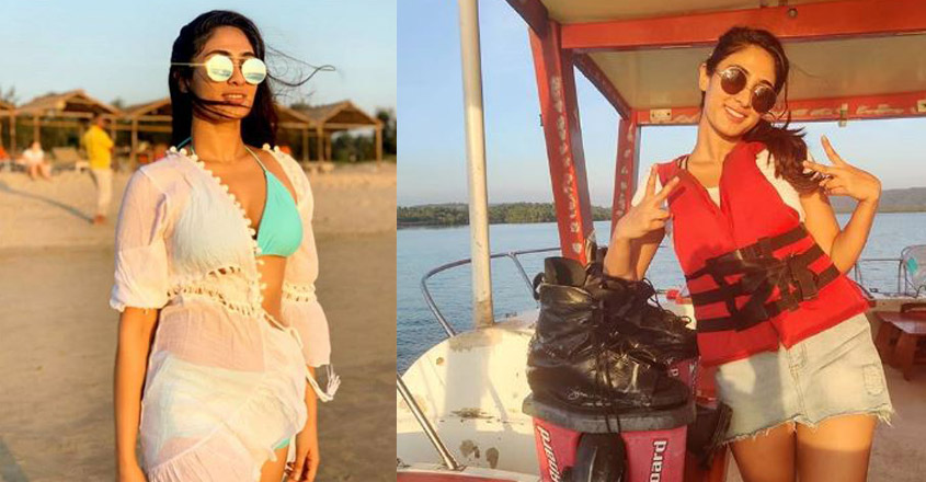 Actress Deepti Sati flies over Goa waves
