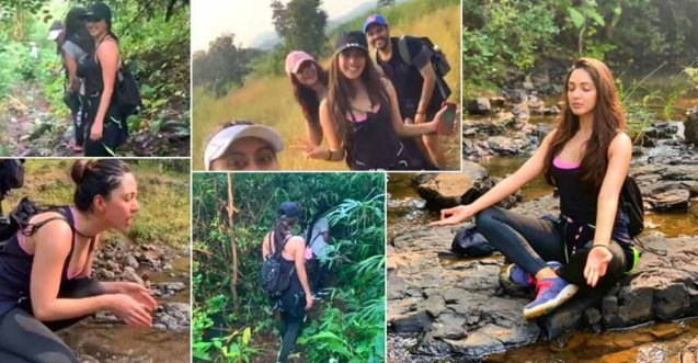 Actress Kiara's tryst with trekking in Maharashtra forests