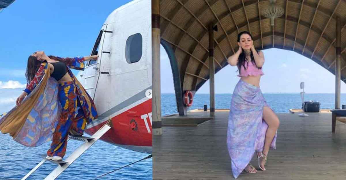 Hansika Motwani goes on a special seaplane ride in Maldives, enjoys vacation