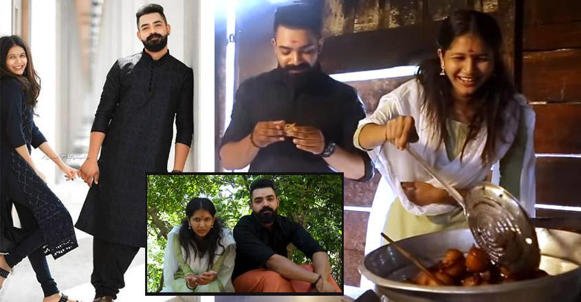 Actress Juhi Rastogi visits Thirunelli temple with her fiance