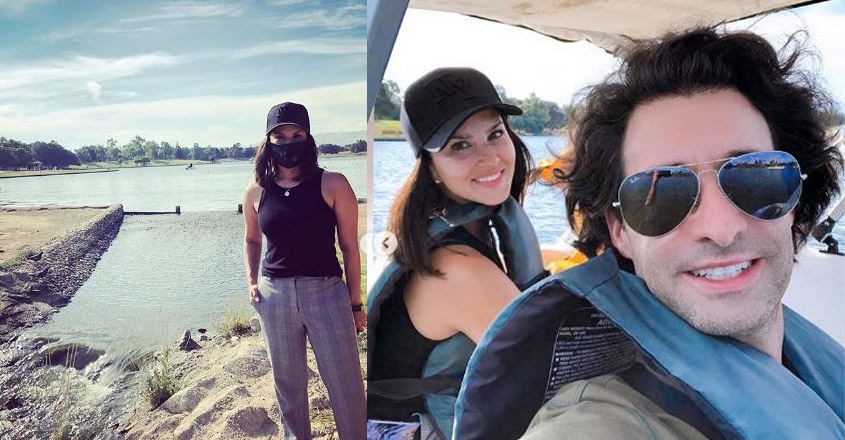 Sunny Leone spends merry afternoon with family at Balboa Lake