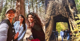 Giant Sequoias at Yosemite charm Rima and Parvathy