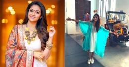 Actress Keerthy Suresh's tryst with Spain