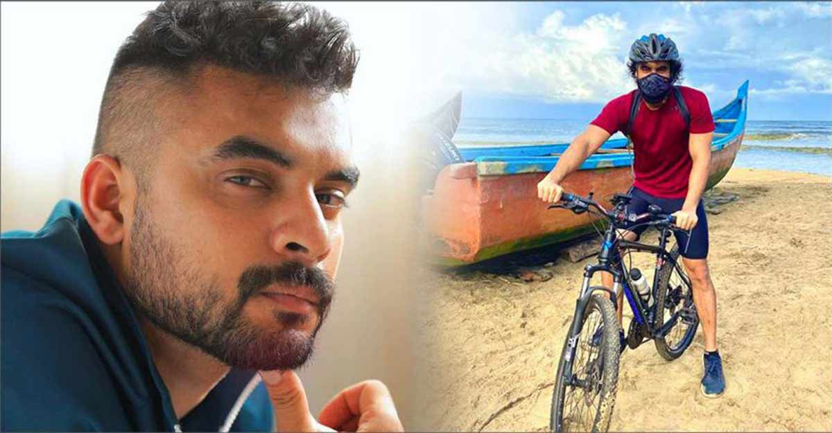 Tovino cycles on Vanchippura beach for cardio workout