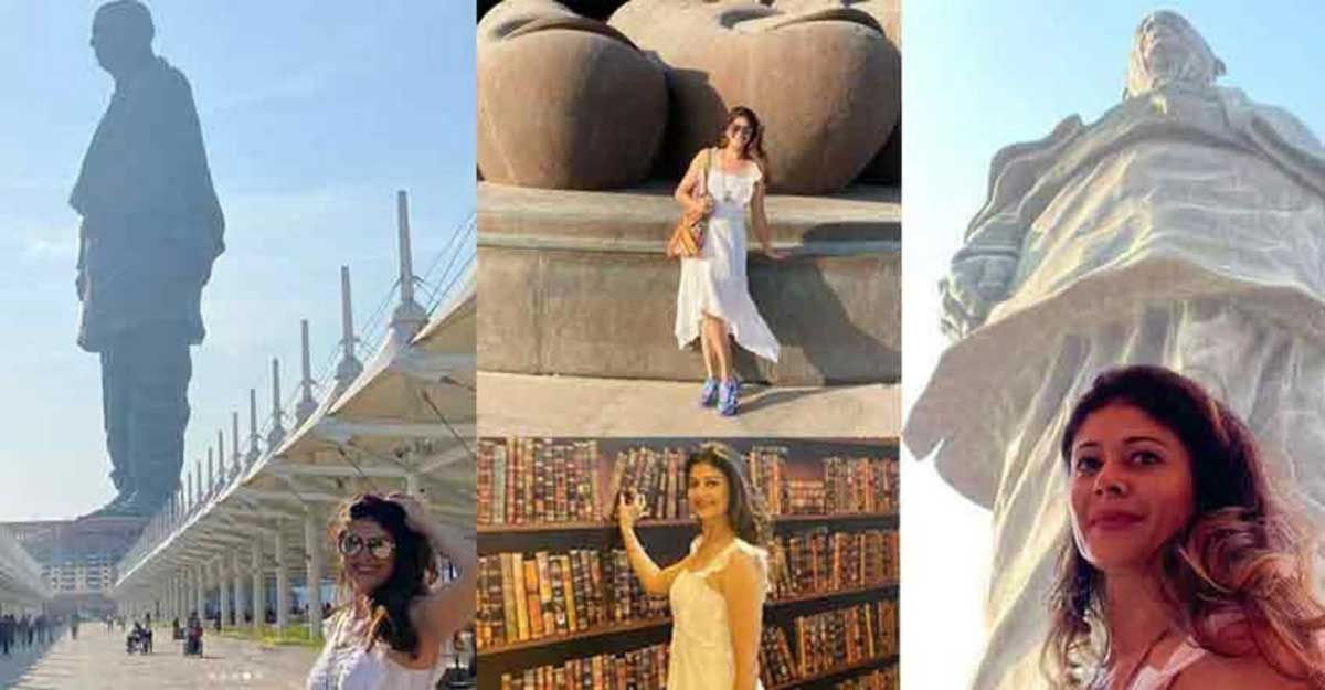 Actress Pooja Batra's tryst with 'Statue of Unity'