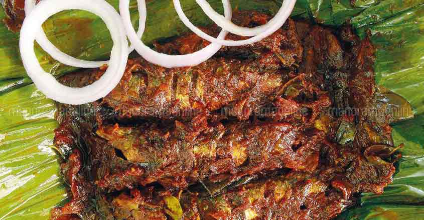 Go for spicy sardines baked in plantain leaves at Puzhayoram restaurant