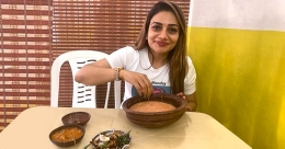 Rimi enjoys pazhankanji from Kanthari restaurant in Mangalore