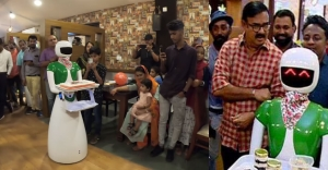 Robots serve you tasty dishes at Maniyanpilla Raju's restaurant