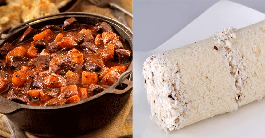 The best place to taste 'puttu' with beef stew or 'potti'