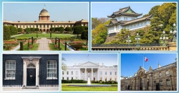 A peek into where heads of various countries reside across the globe