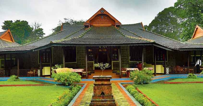 A grandiose palace in the wilderness of Thekkady