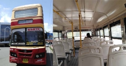 Here's the lone double-decker bus in Kochi