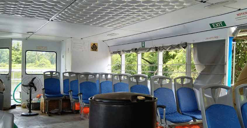 Enjoy the water bus ride from Vyttila to Kakkanad for just Rs 8