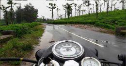 A solitary bike ride, through the monsoon