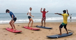 Varkala beach adds surfing to its 'to-do' list