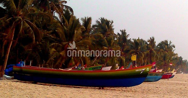 Fishing Boats in Thaickal Beach