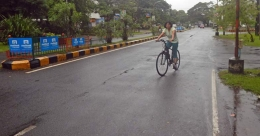 Pedaling through the puddles and unseen pastures in Kochi