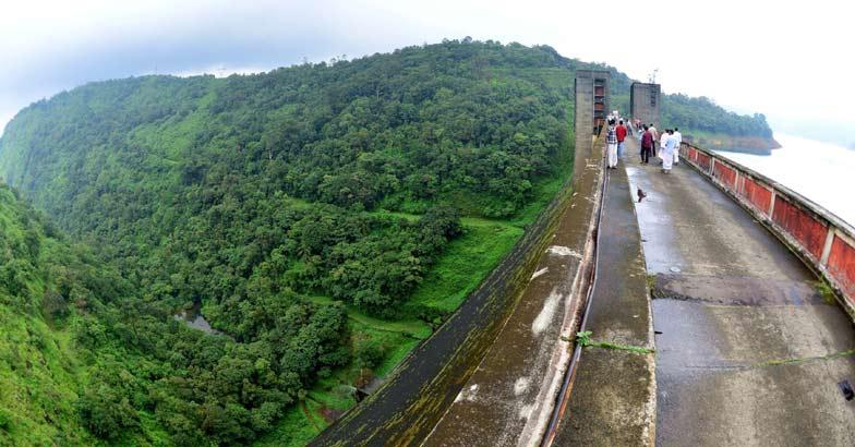 View from Kakki Dam