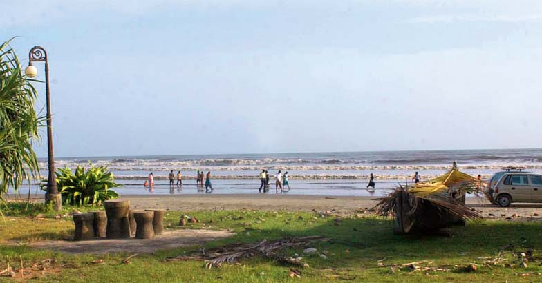 Beach wanderers in God's own country