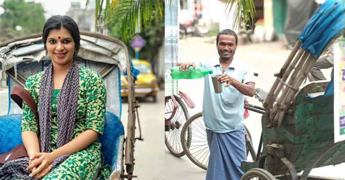Lakshmibai Thampuratti shares the story behind posing for a rickshaw puller in Kolkata