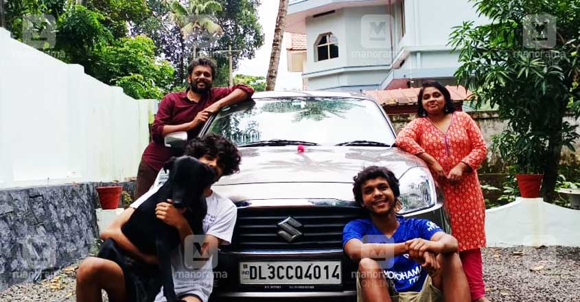 2,900km in 3 days: When a Keralite family travelled from Noida to Thiruvalla in a car